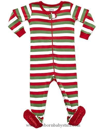 53bab2cd7815 Baby Boy Clothes Leveret Striped Footed Pajama Sleeper 100% Cotton ...