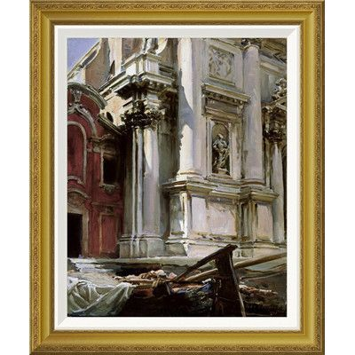 """Global Gallery 'Church of San Stae, Venice' by John Singer Sargent Framed Painting Print Size: 28"""" H x 23.34"""" W x 1.5"""" D"""