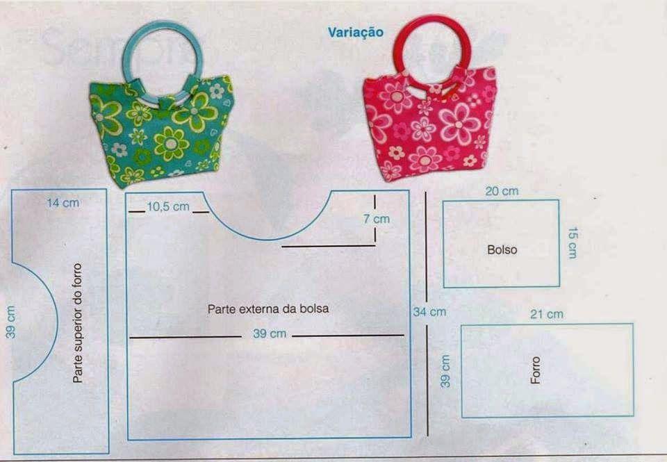 Entretelas y patchwork: Patrones de Bolsos | Miniaturas | Pinterest