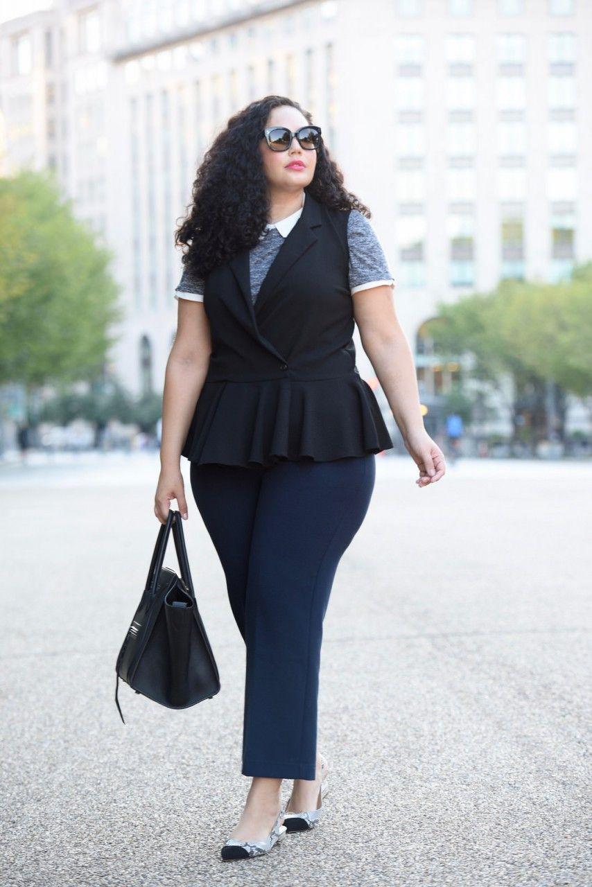 Модные темно синего цвета брюки 2017 для полных 7/8 длины ...