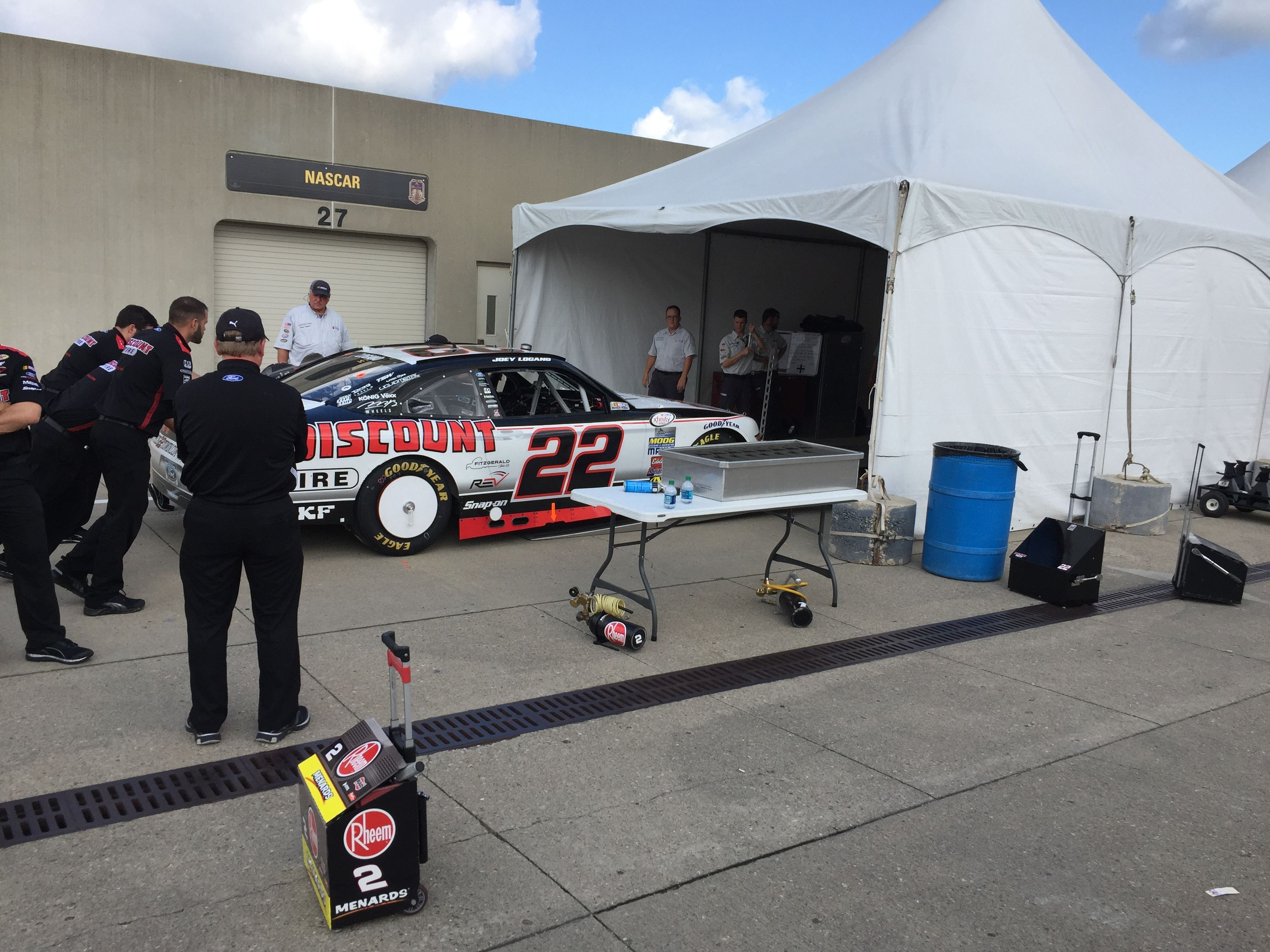 Inspection time at Indianapolis Motor Speedway
