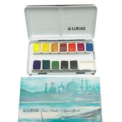 aquarela pastilha lukas fine studio 14 cores 6741 art creation and