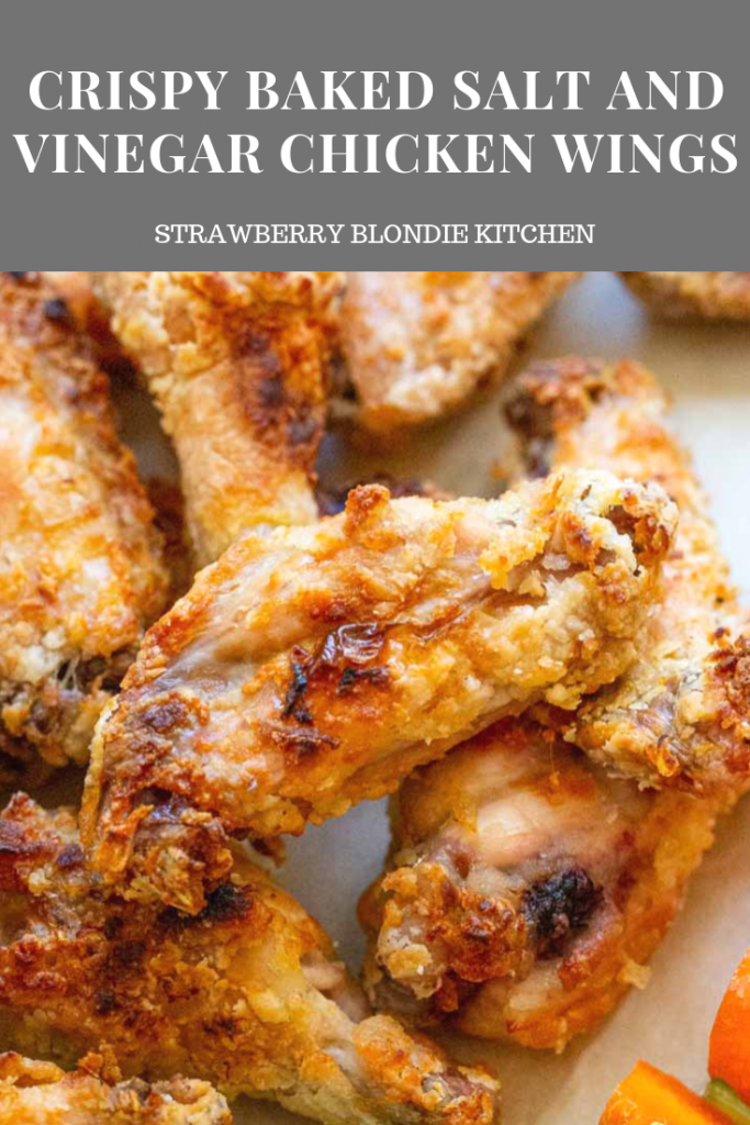 crispy baked salt and vinegar chicken wings are super simple to prepare baked in the ove in 2020 vinegar chicken chicken wing recipes baked crispy baked chicken wings pinterest