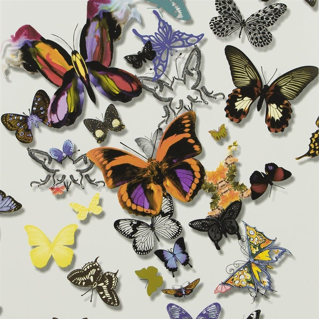 butterfly parade multicolore wallpaper Christian