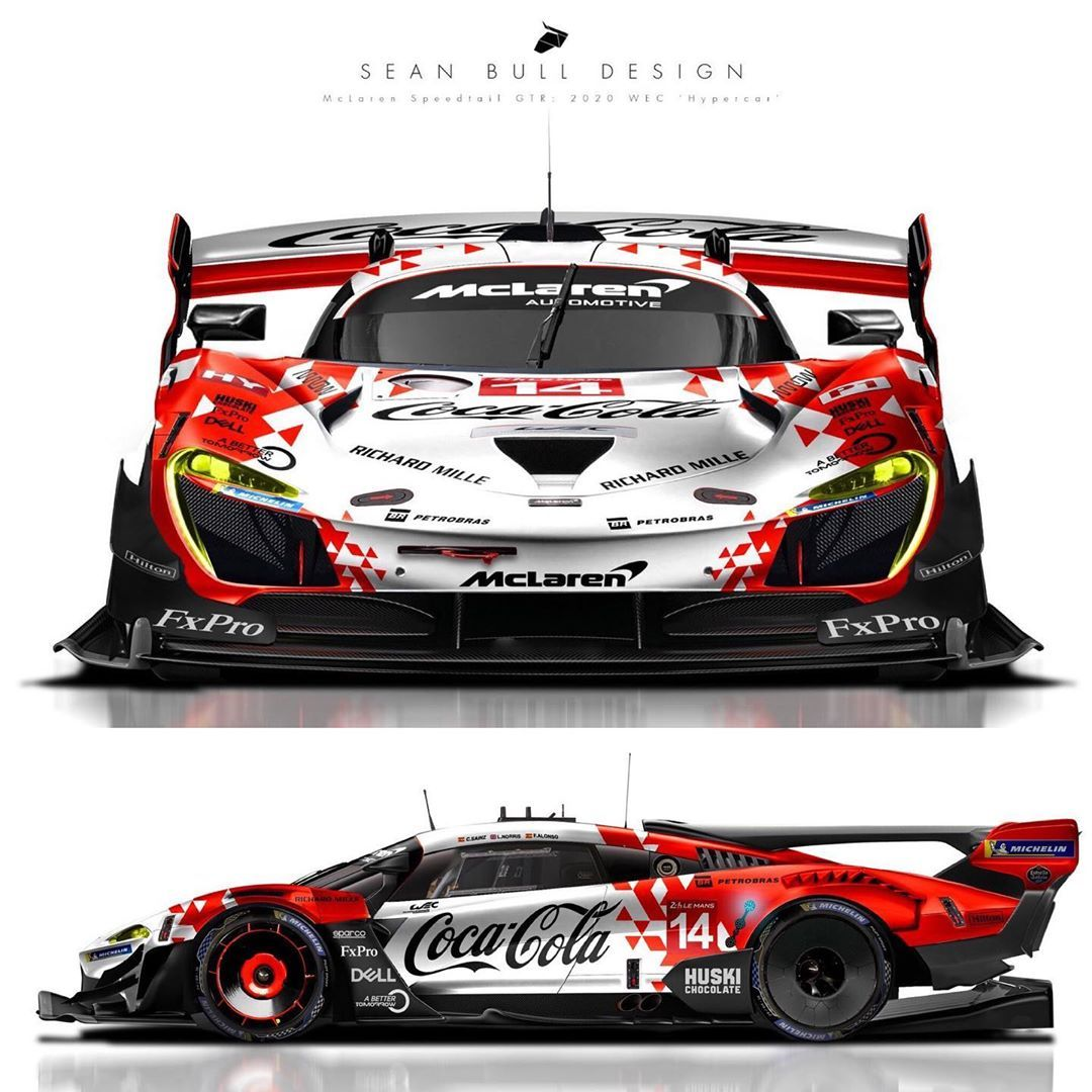 White Or Black Mclaren Speedtail Gtr Designed For The 2020 Wec Hypercar Regulations F1 Mclaren Gt Cars Gtr