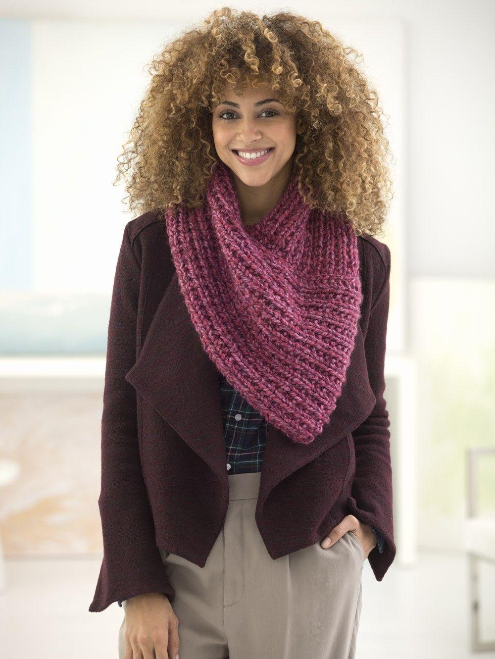 Lion Brand Wool-Ease Thick & Quick Bonus Bundle New Direction Cowl ...