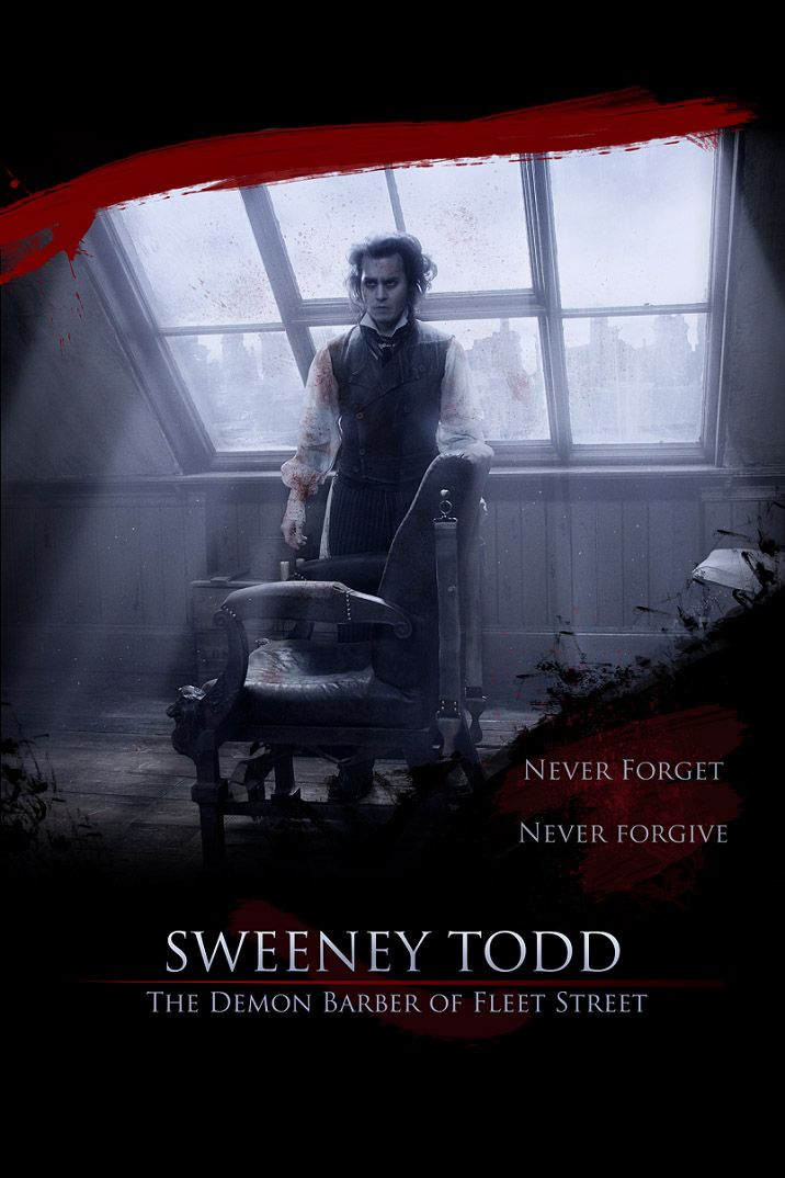 Sweeney Todd The Demon Barber Of Fleet Street 2007 Sweeney Todd Tim Burton Movie Musical Movies