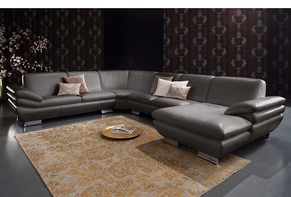 Calia Italia Wohnlandschaft braun, Recamiere rechts Jetzt bestellen - wohnzimmer sofa braun