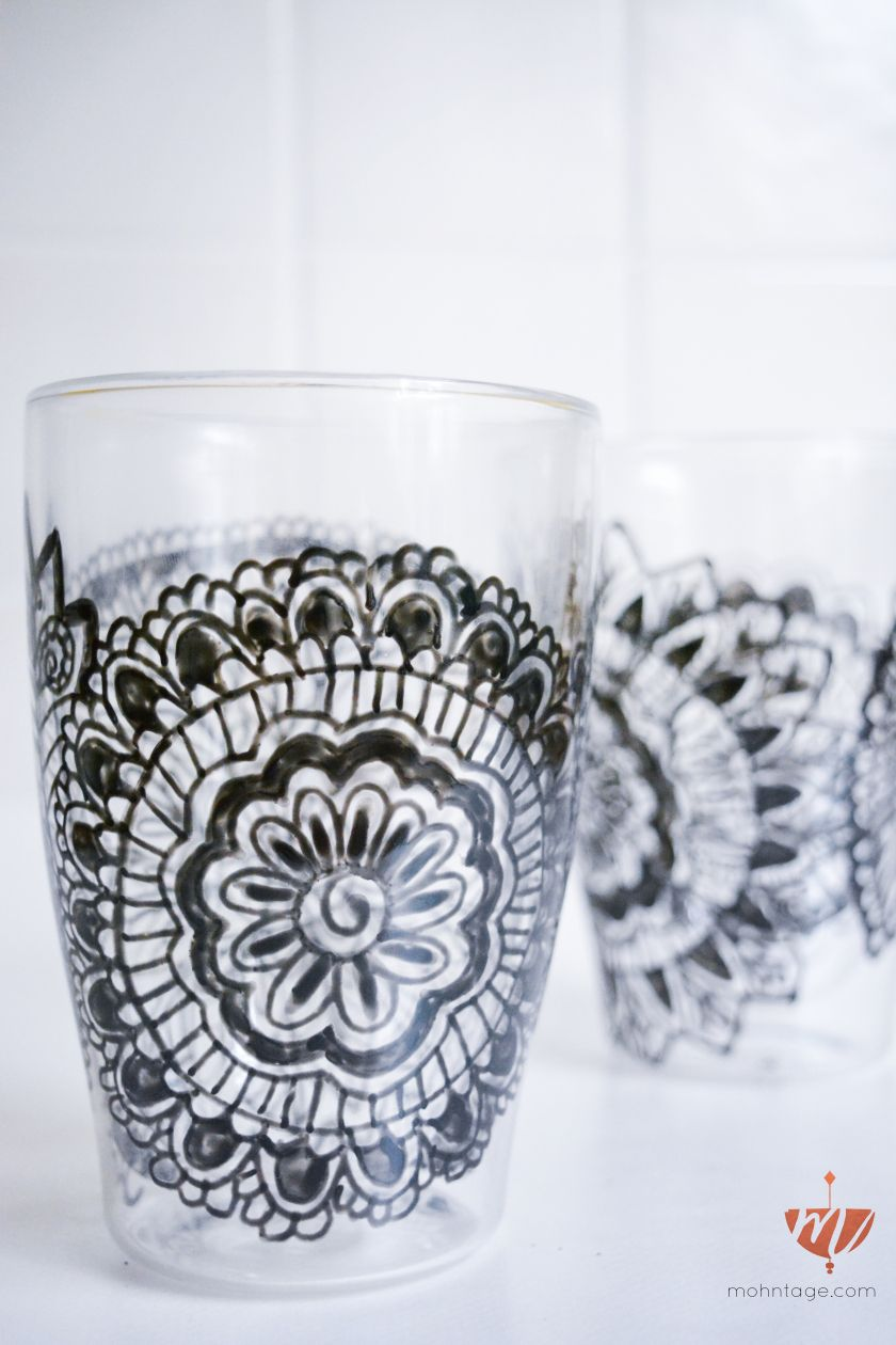 Diy Video Zentangle Gläser Mit Glasmalfarbe Bemalen Porzellan