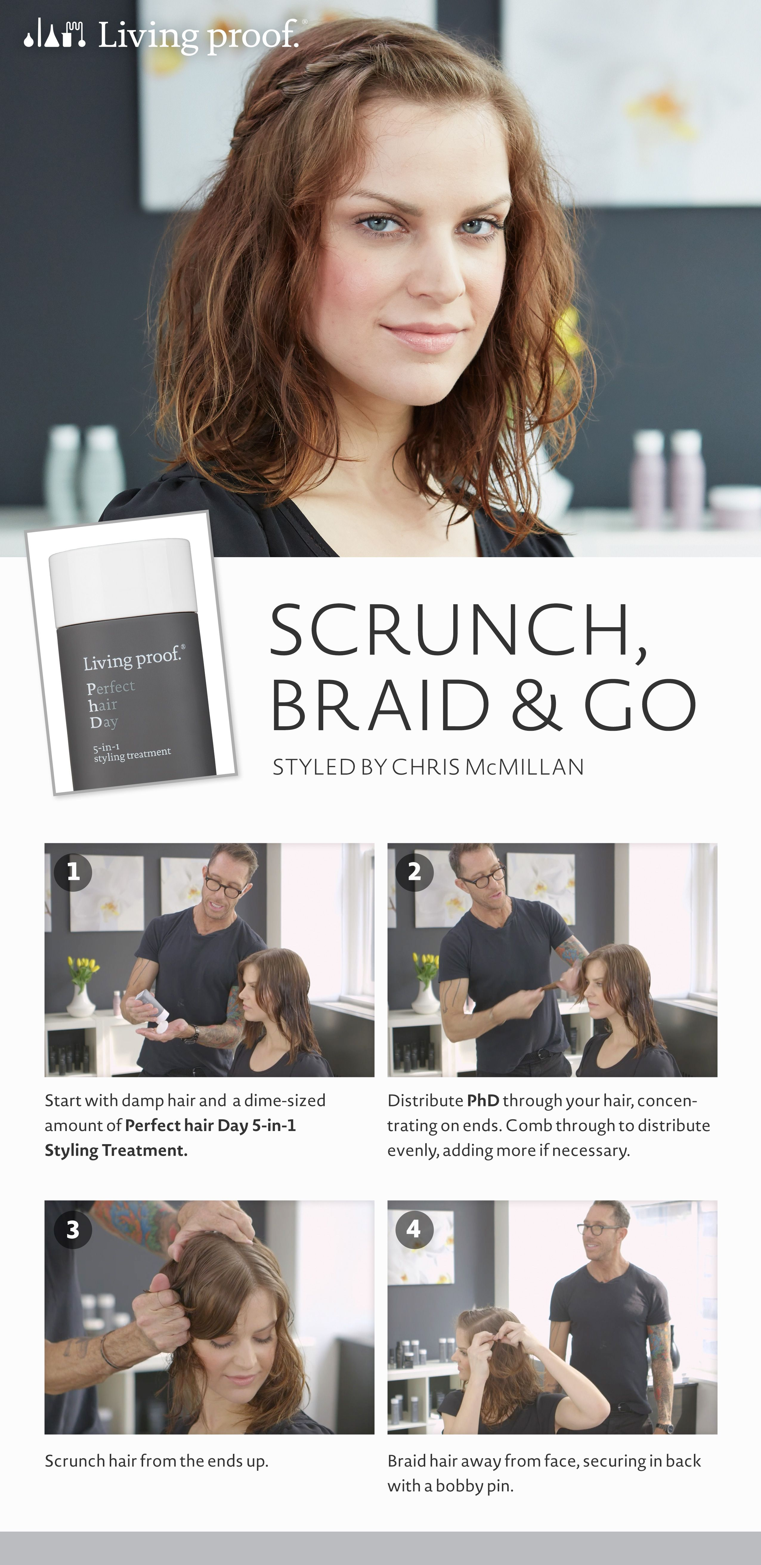 Here S A Quick Trick To Style Your Hair In Minutes When You Re On The Go Sephora Midlengthhair Braids Short Hair Styles Easy Hair Styles Perfect Hair Day