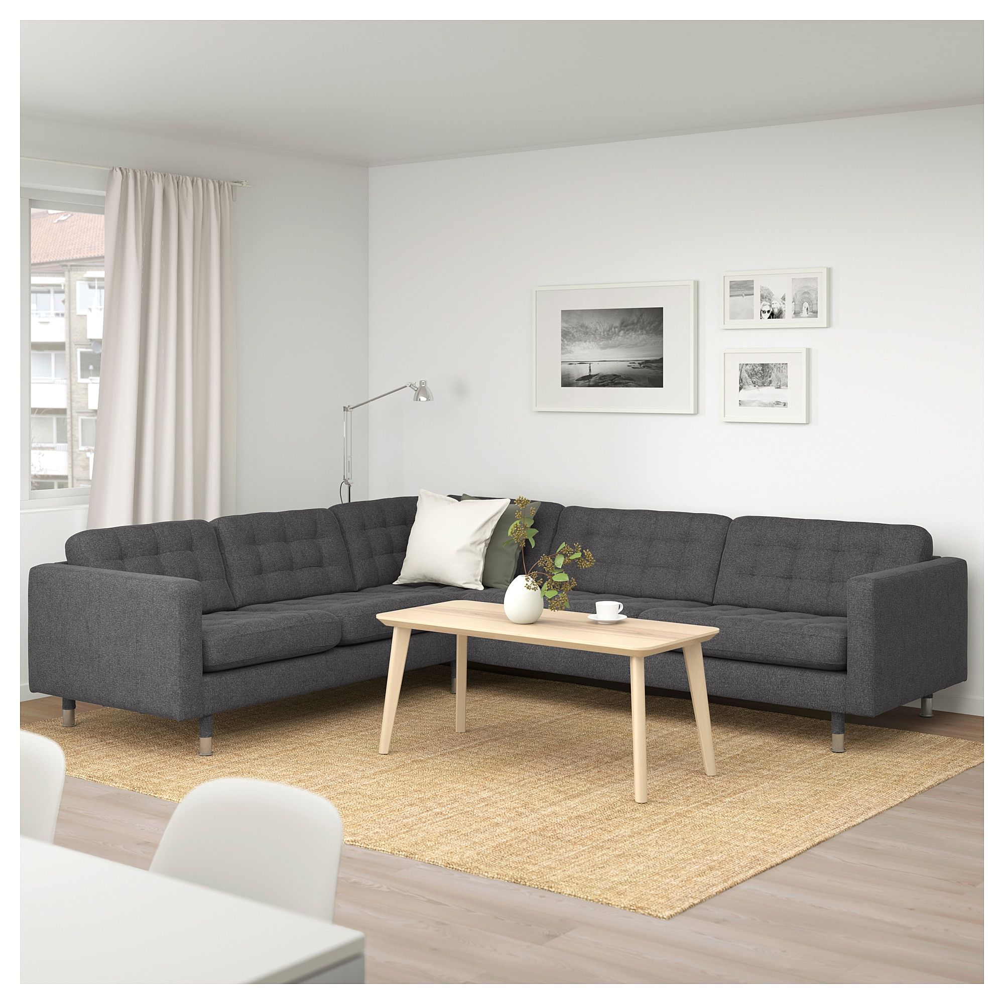 Strange Ikea Landskrona Sectional 5 Seat Corner Gunnared Dark Bralicious Painted Fabric Chair Ideas Braliciousco