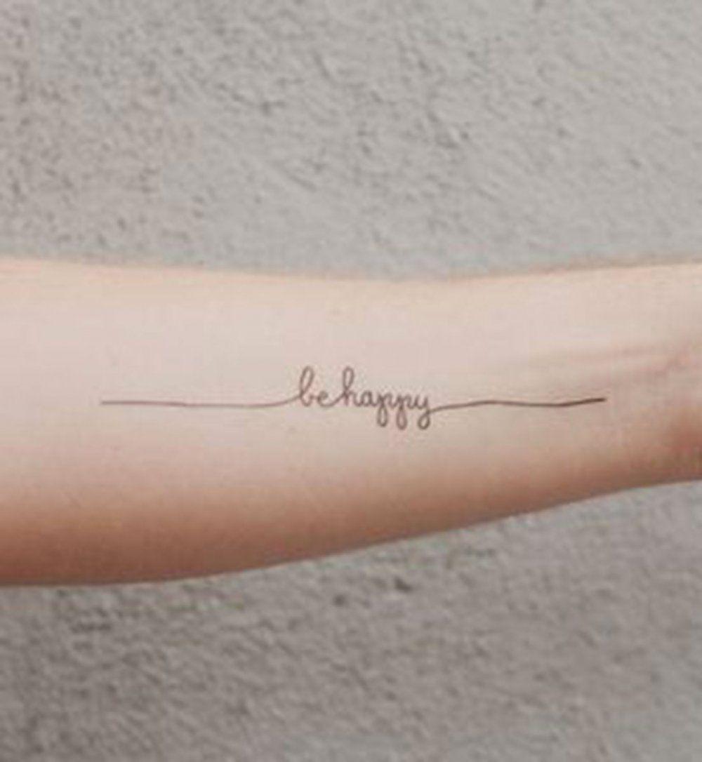 Idées de phrases pour tatouage : « Be happy