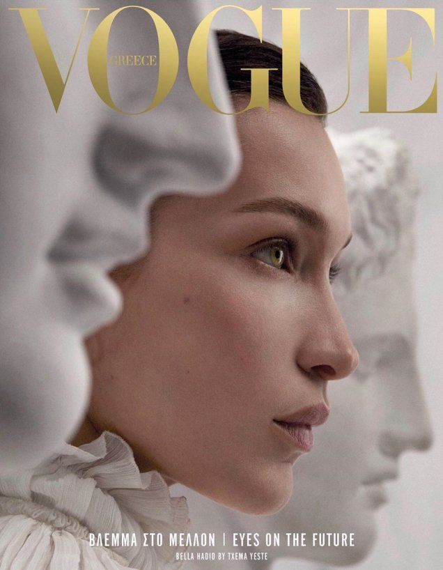 Bella Hadid posiert neben griechischen Antiquitäten für die atemberaubenden Relaunch-Cover der Vogue Greece - #Antiquitäten #atemberaubenden #Bella #der #Die #für #Greece #griechischen #Hadid #mobel #neben #posiert #RelaunchCover #Vogue #bellahadid