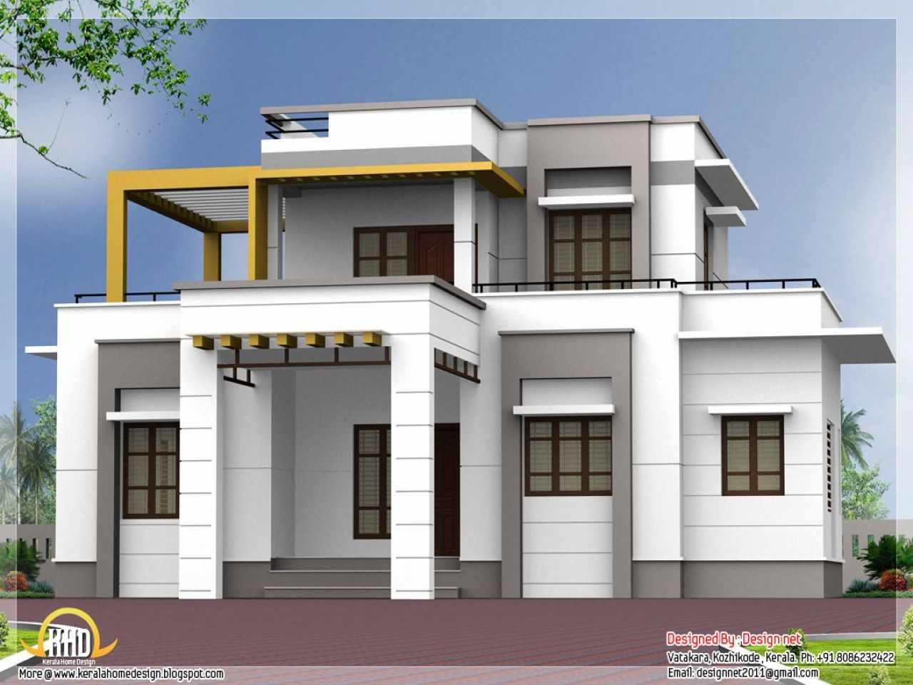 Flat Roof House Design Ideas Roofrepair Small House Exteriors Small House Design Exterior House Outside Design