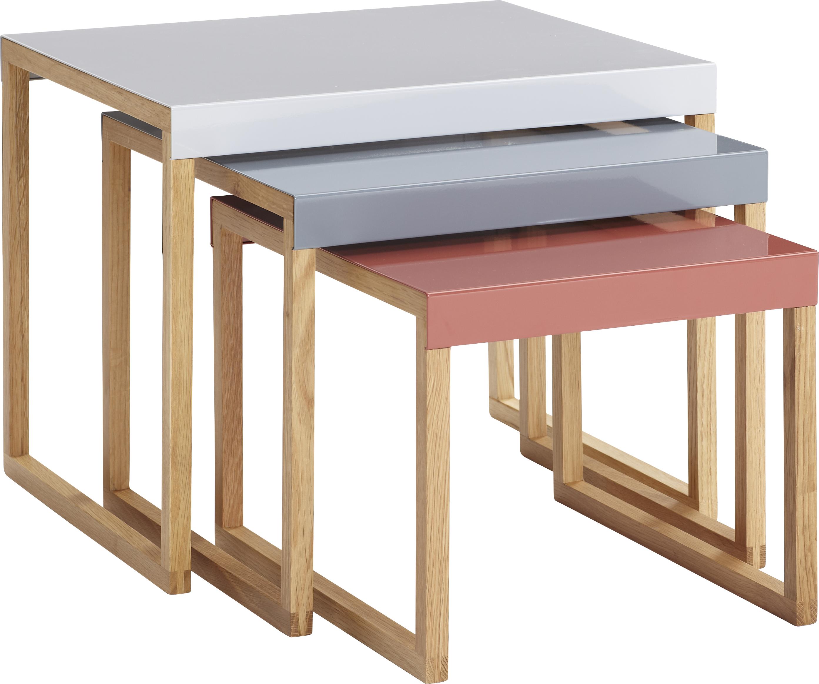 Kilo tables d appoint gigognes en métal et chªne massif