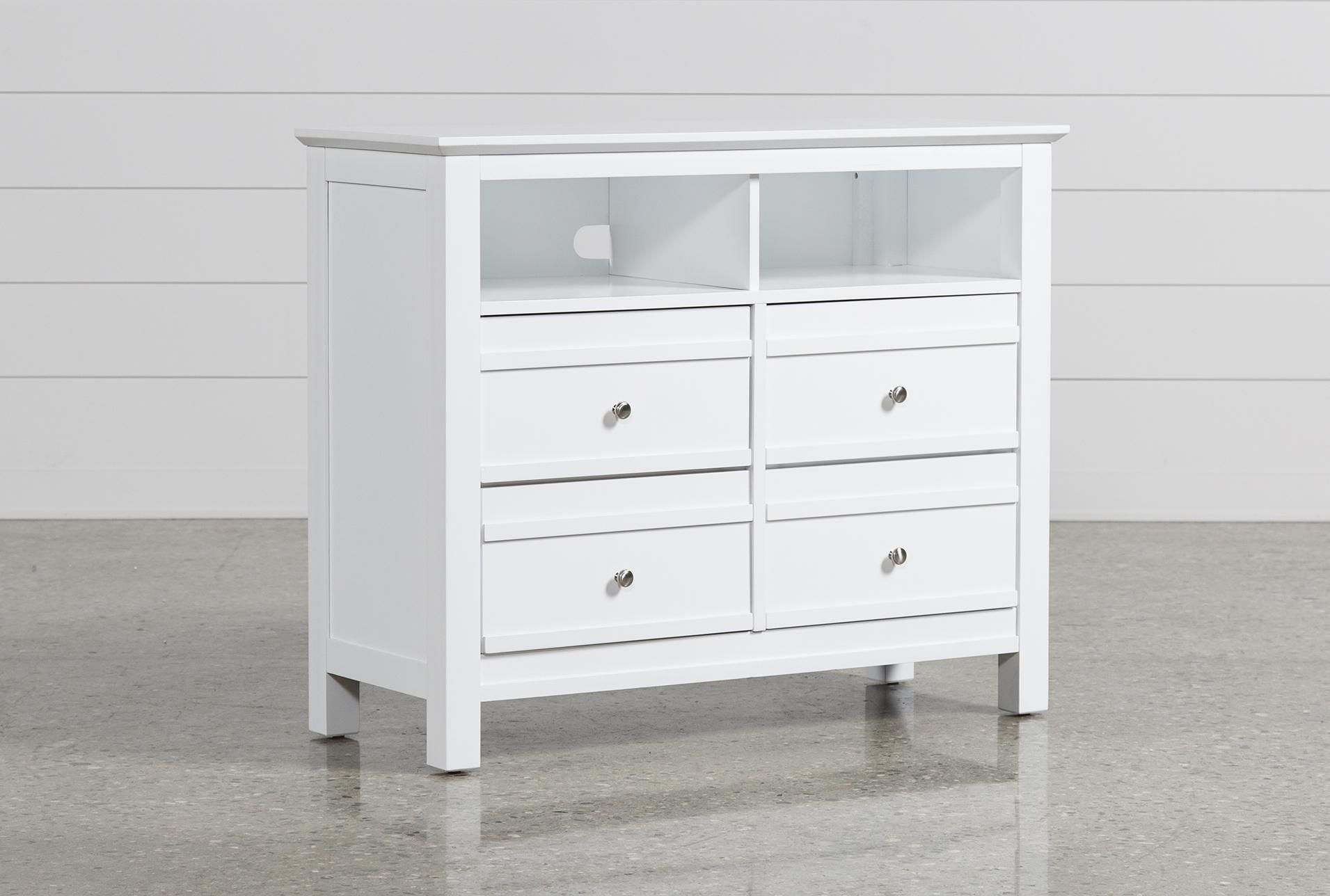 Bayside White Media Chest Entertainment Centers Tv Stands