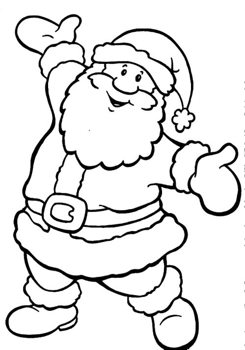 Happy Santa Claus Christmas Coloring Pages noel Pinterest