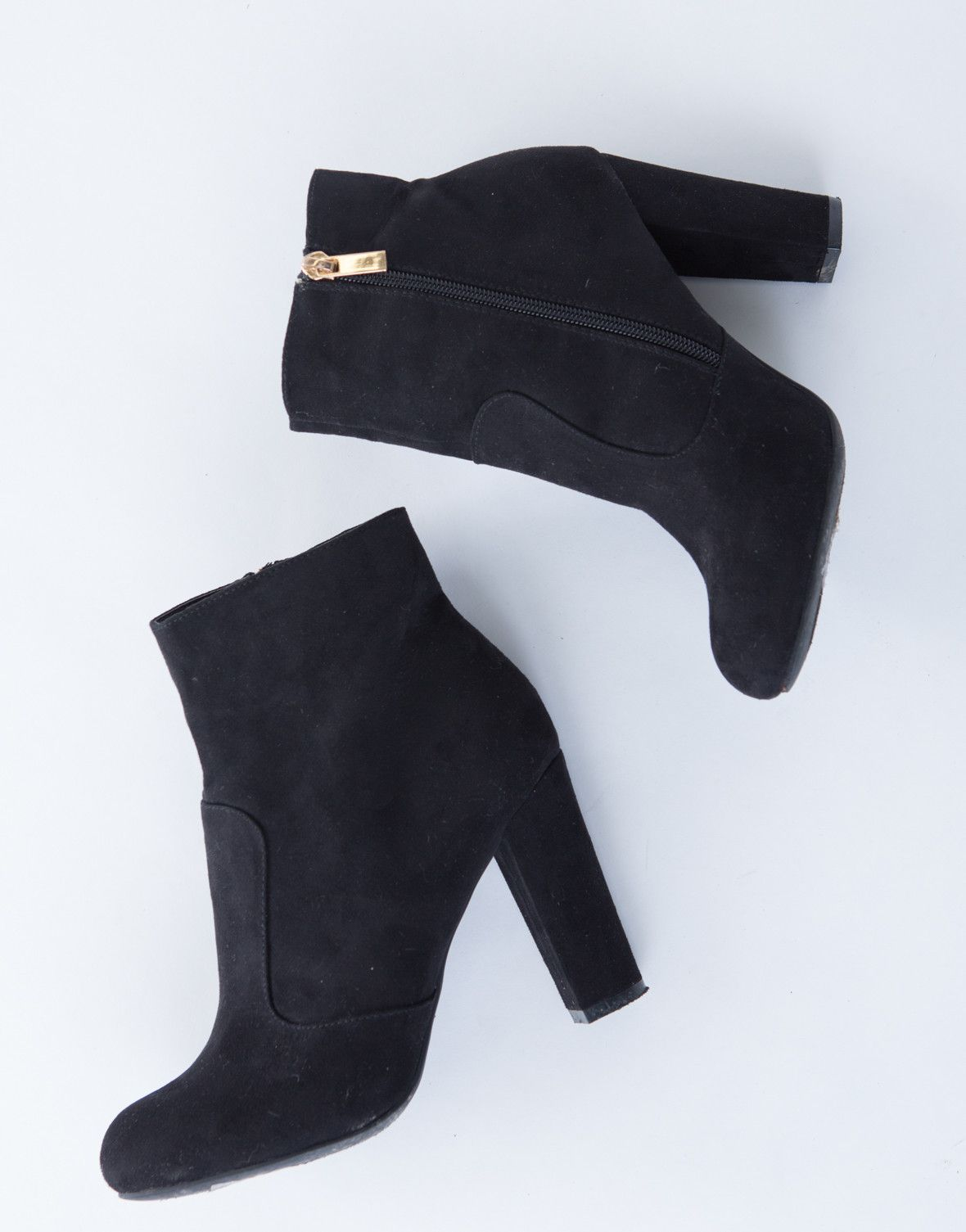 cbcc7f3d97f Suede Chunky Heel Boots