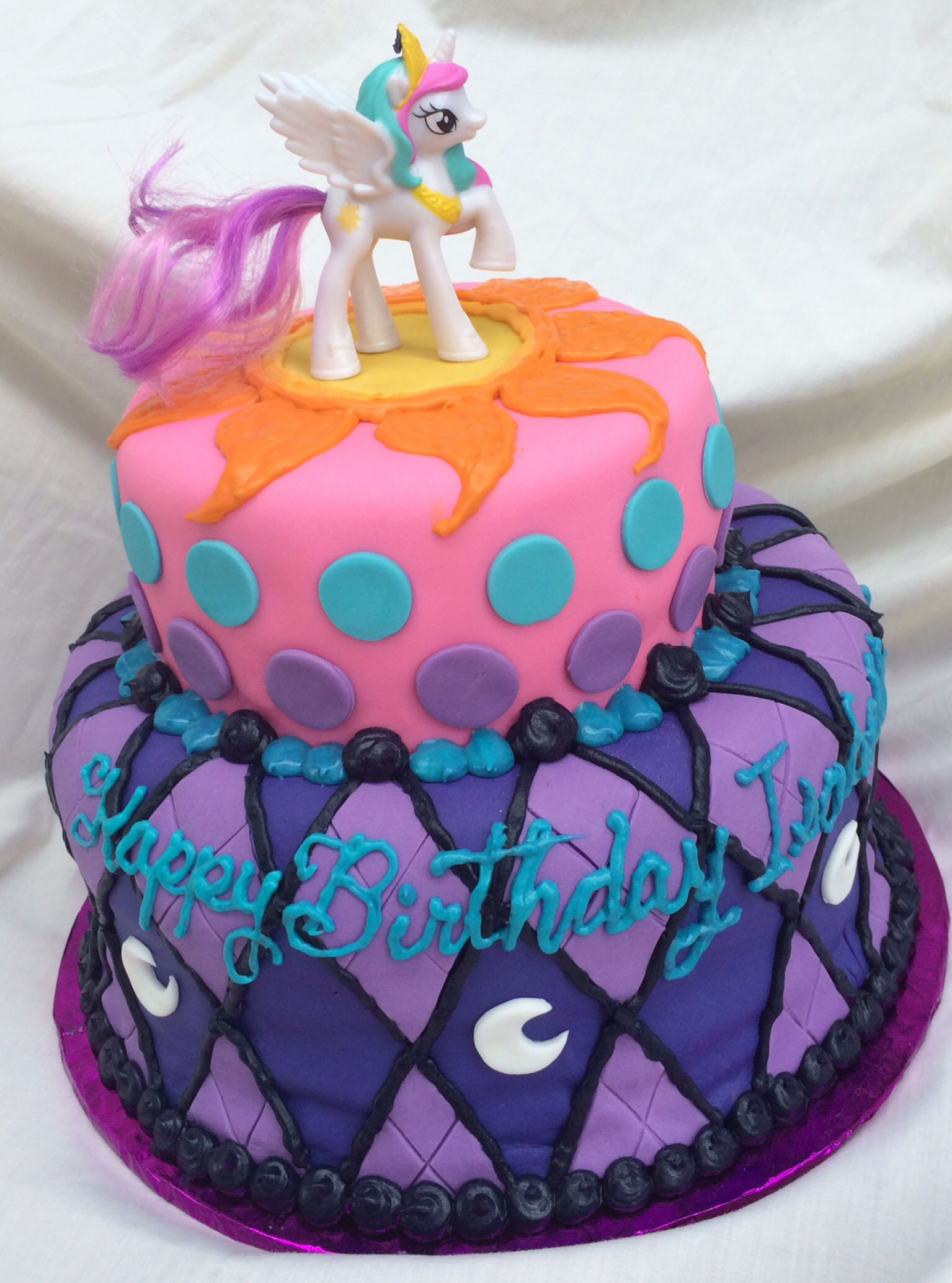My Little Pony Cake By Inphinity Designs With Princess Celestia And
