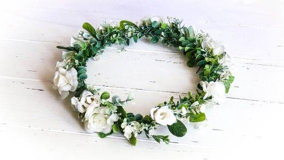 Flower Girl Crown, Flower Girl Headpiece, Flower Crown Wedding, Flower Head Wreath, Boho Flower Crown, Floral Hair Piece, Bride Flower Crown #flowerheadwreaths
