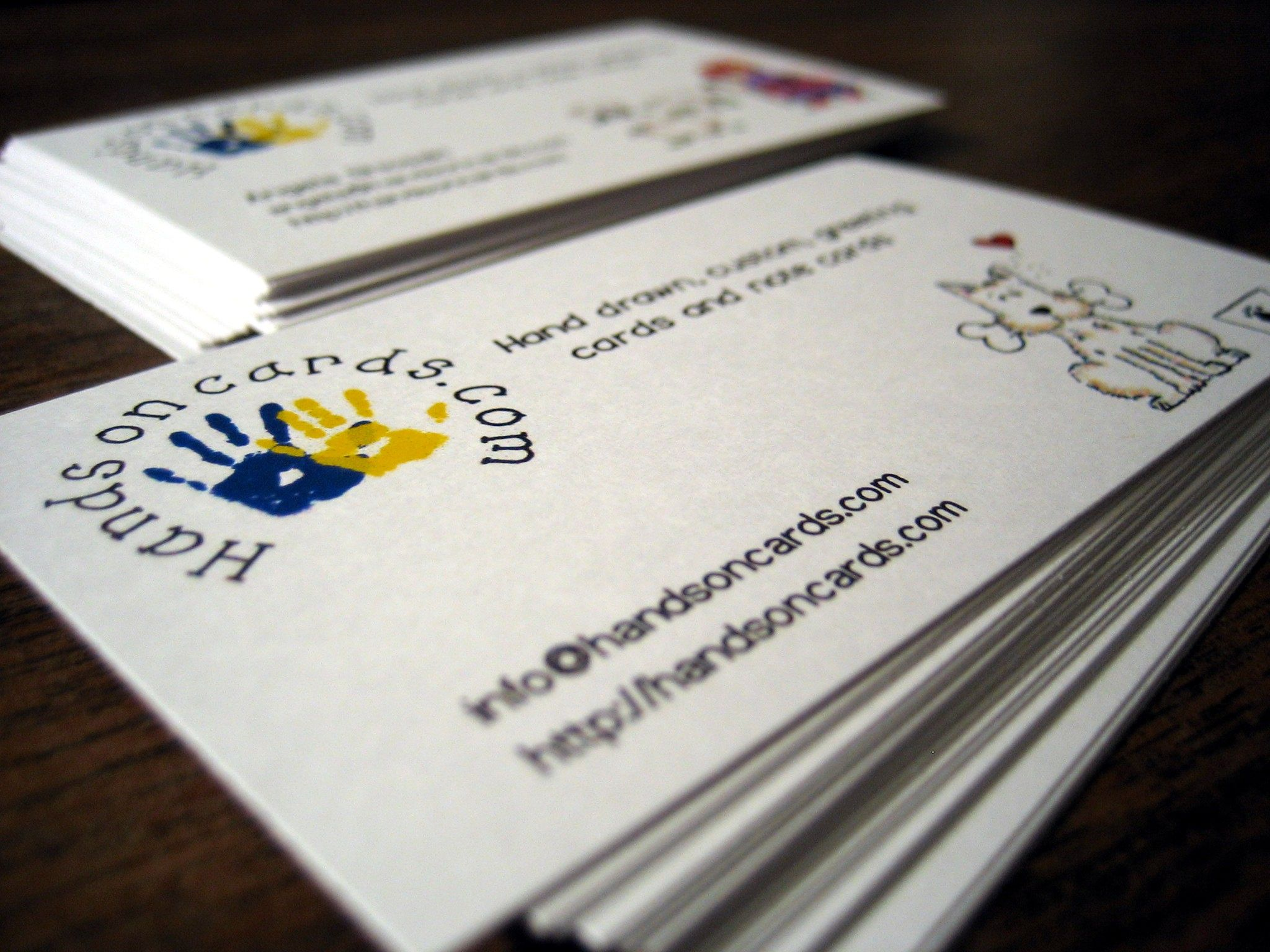 beautiful business cards printing with cut and custom
