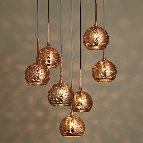 Buy john lewis simba dangles cluster ceiling light 7 light buy john lewis simba dangles cluster ceiling light 7 light copper online at johnlewis aloadofball