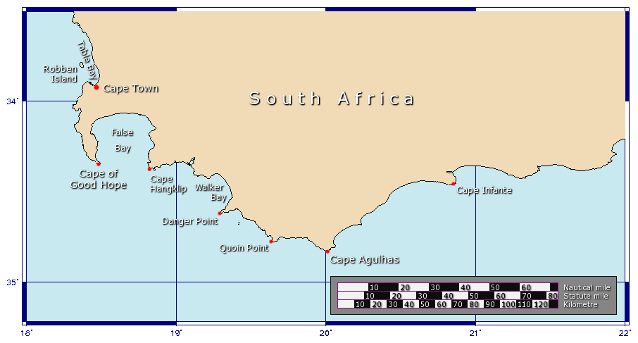 The Cape of Good Hope is a rocky headland on the Atlantic coast of