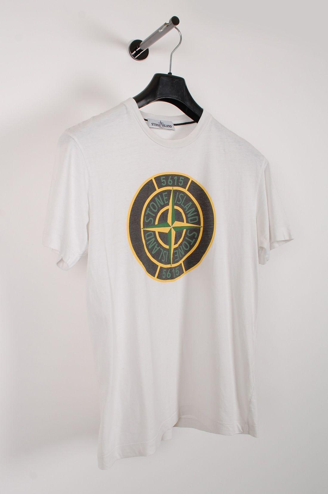 Stone Island Original Stone Island White Men T Shirt In Size M Size M 89 Mens Tshirts T Shirt Stone Island