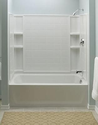 ensemble tiled shower tub combo from sterling | bathroom ideas