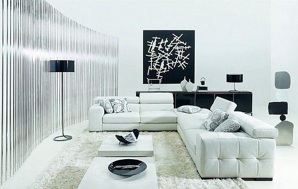 Wie dekorieren Sie Ihr Wohnzimmer mit Schwarz und Weiß #dekorieren ...
