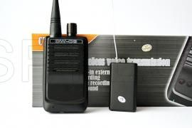 """Audio receiver and tap kit  : http://spy.eu/listening-devices-spy-shops/591_B20.html With this kit you can conduct audio tapping without being dependent on the mobile operators. The outstanding ease of use enables unexperienced individuals to operate this. Turn the switch on """"bug"""" to the marked position in red, place it in the desired position, rotate the round button on the receiver to adjust the desired volume."""