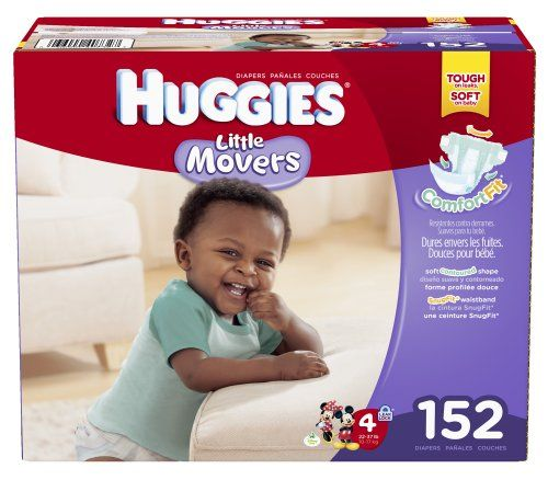Huggies Little Movers Diapers, Size 4, 152 Count - http ...