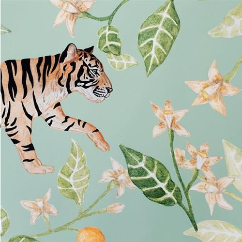 Anewall Clementine Modern Classic Tiger Wallpaper