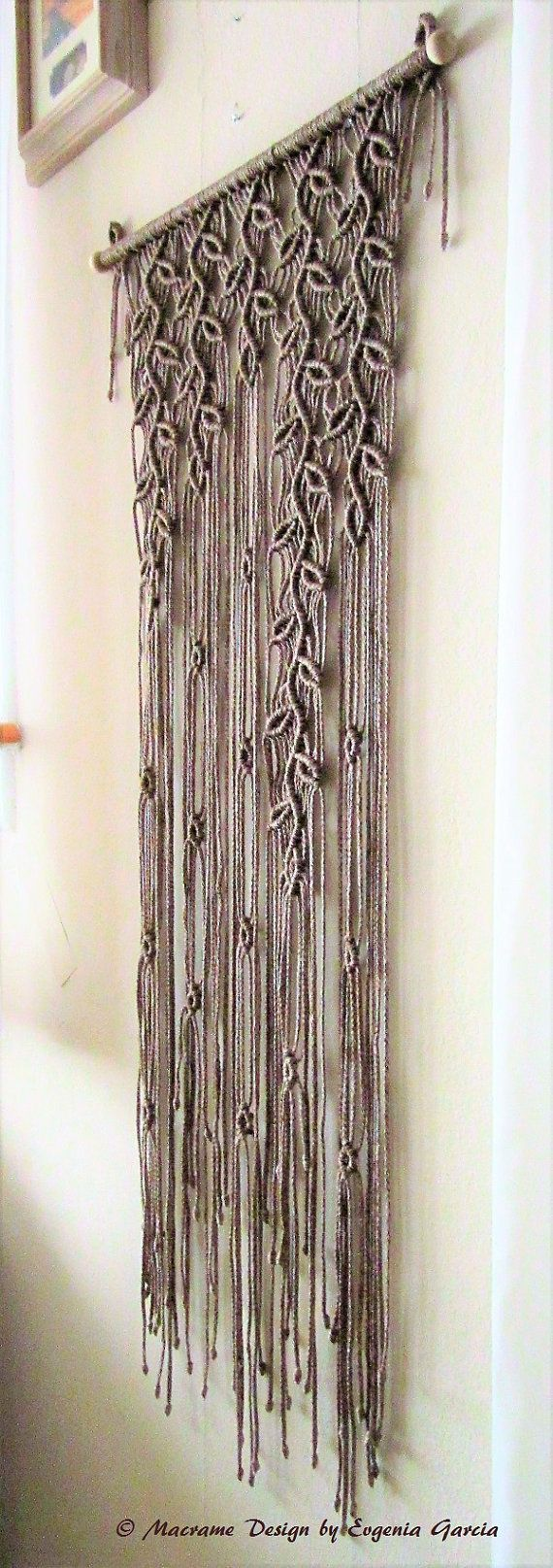 colgante de pared de macrame ramitas de 5 decoraci n cenefas. Black Bedroom Furniture Sets. Home Design Ideas