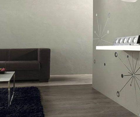 peinture-salon-Enduit-decoratif-effet-beton-clair-Leroy-Merlin - Decoration Salle Salon Maison