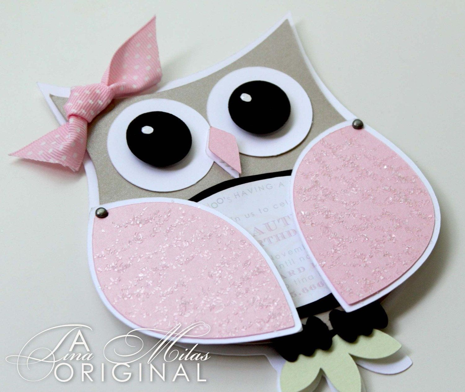 unique homemade baby shower invitation ideas%0A DIY Owl Invitations for your baby shower  Love the ribbon  u     the pinkness on  the
