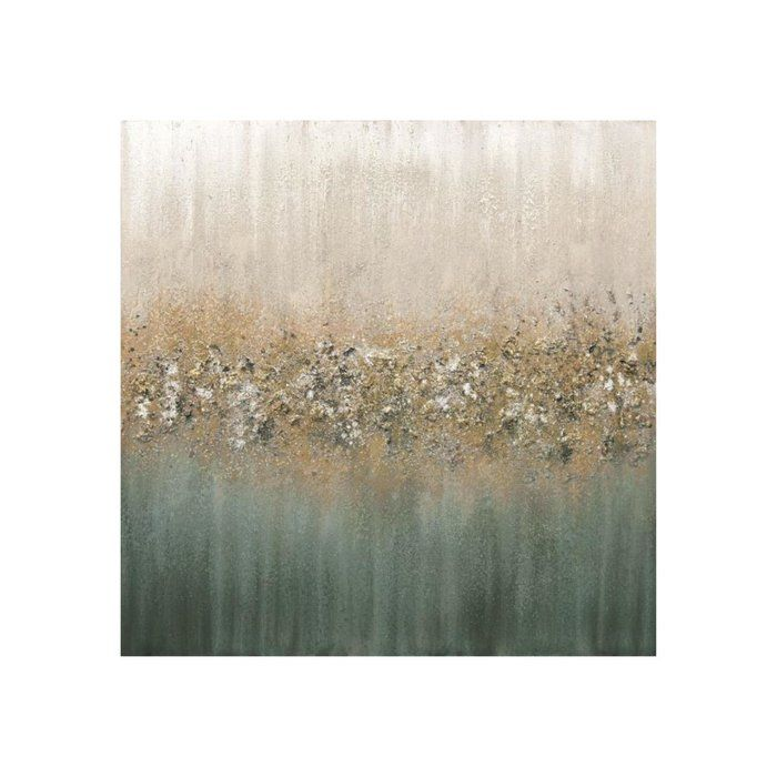 Golden Fog I Glitter By Beverly Fuller Wrapped Canvas Graphic