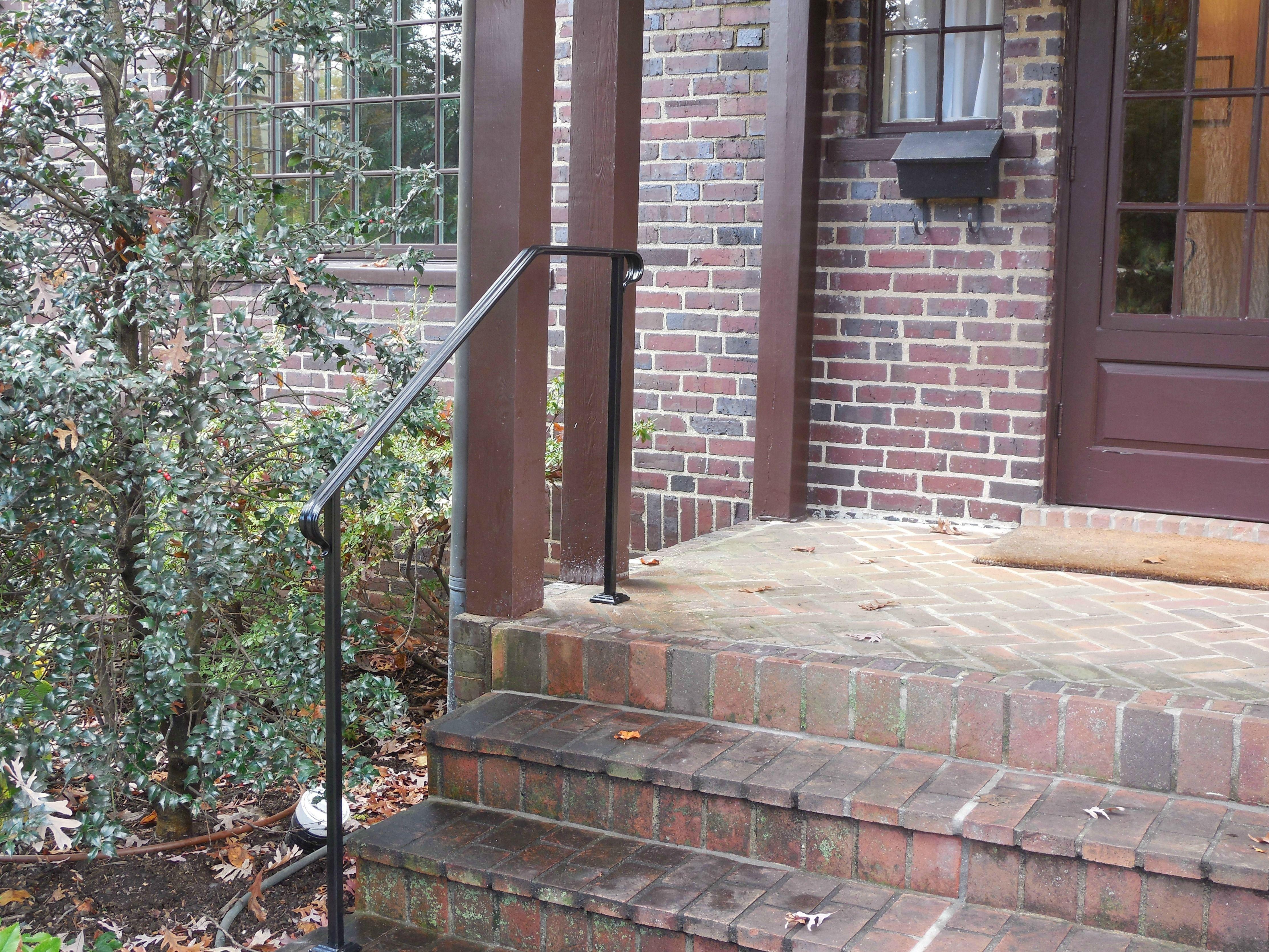 Step Railings Archives   Antietam Iron Works. Iron HandrailsFour  SquareFront StepsIron WorkExterior ...