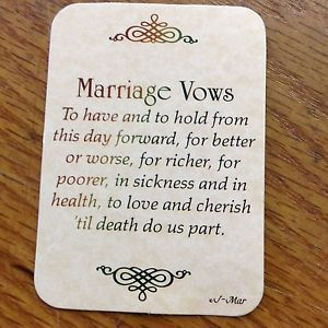 Pin By Bridal Dreams Jamaica On Wedding Vows Marriage Vows Catholic Marriage Vows Vows