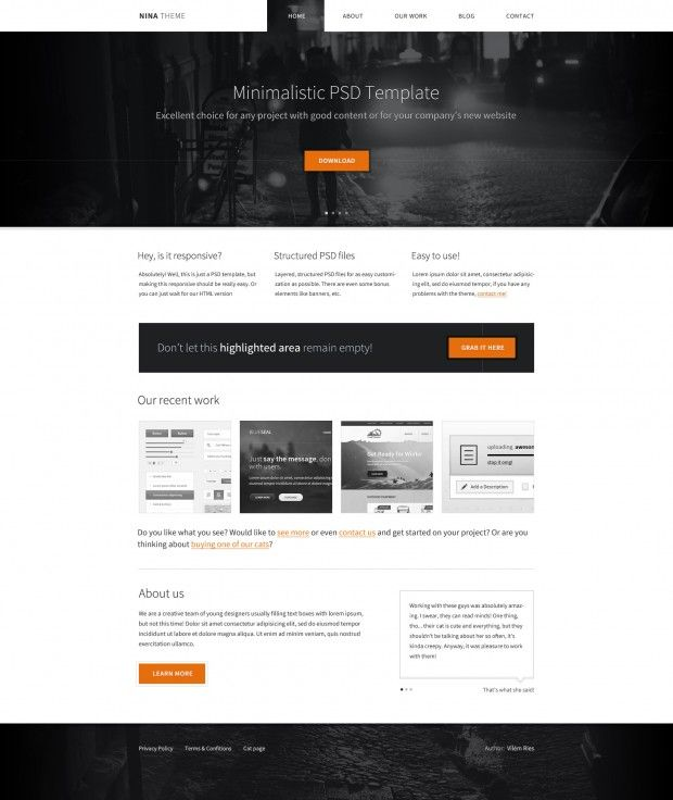 Nina Theme Free Html Theme Fribly Business Website Templates Css Website Templates Css Templates