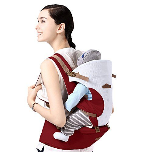 GBlife Porte-bébé Nouvelle Conception Réglable Multifonction 5 Moyens à  Porter avec Siège Coton Respirant pour Nouveau-nés Nourrissons… c3b3300dc25