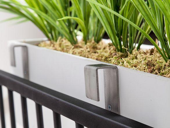 Stainless Steel Balcony Bracket Pairs Railing Planters Window