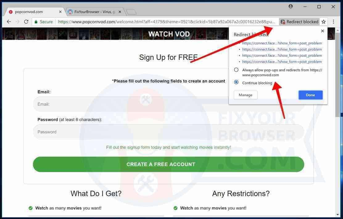 Since Google Chrome Version 65 Google Has Introduced A Redirect Blocker In Google Chrome The Redirect Blocker Must Google Chrome Web Browser Malware Removal