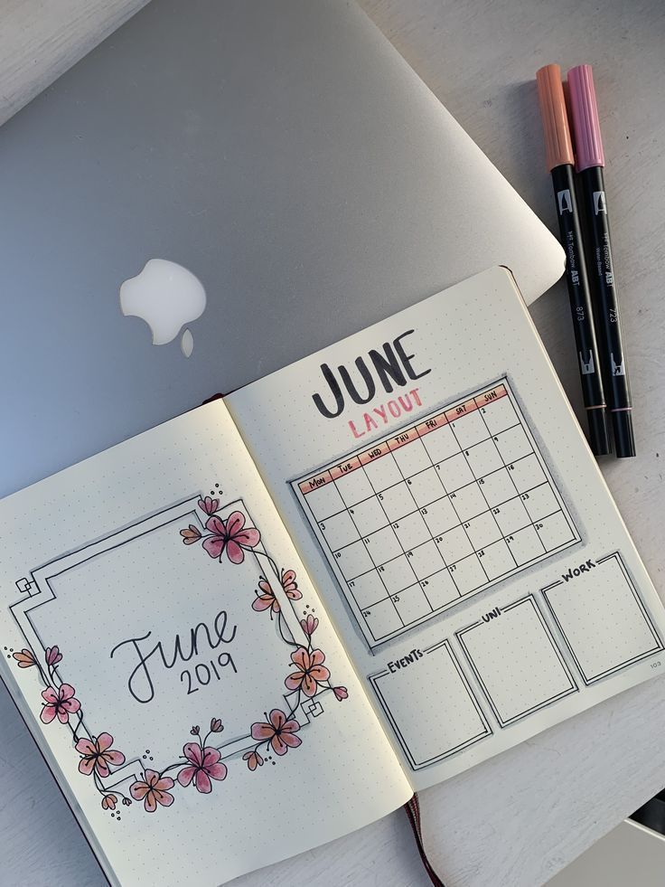 Bullet Journal June Hacks #bulletjournaldecember