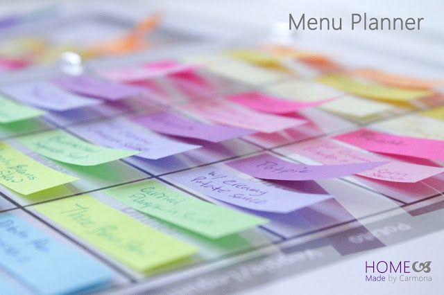 Home Made by Carmona: Menu Planner