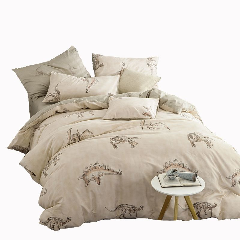 Brief Dinosaur Printed Bedding Set Jurassic Century Duvet Cover Bedspread Pillowcase 100 Cotton Bed Linen Queen Full Twin Siz Bed Bedding Sets Cheap Bed Linen