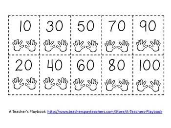 Counting by 10s Cut and Glue Number Line FREEBIE | Kindergarten ...
