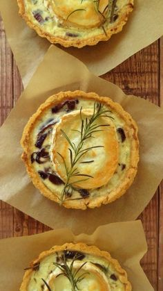 Caramelised Red Onion and Goats Cheese Tarts - Dom