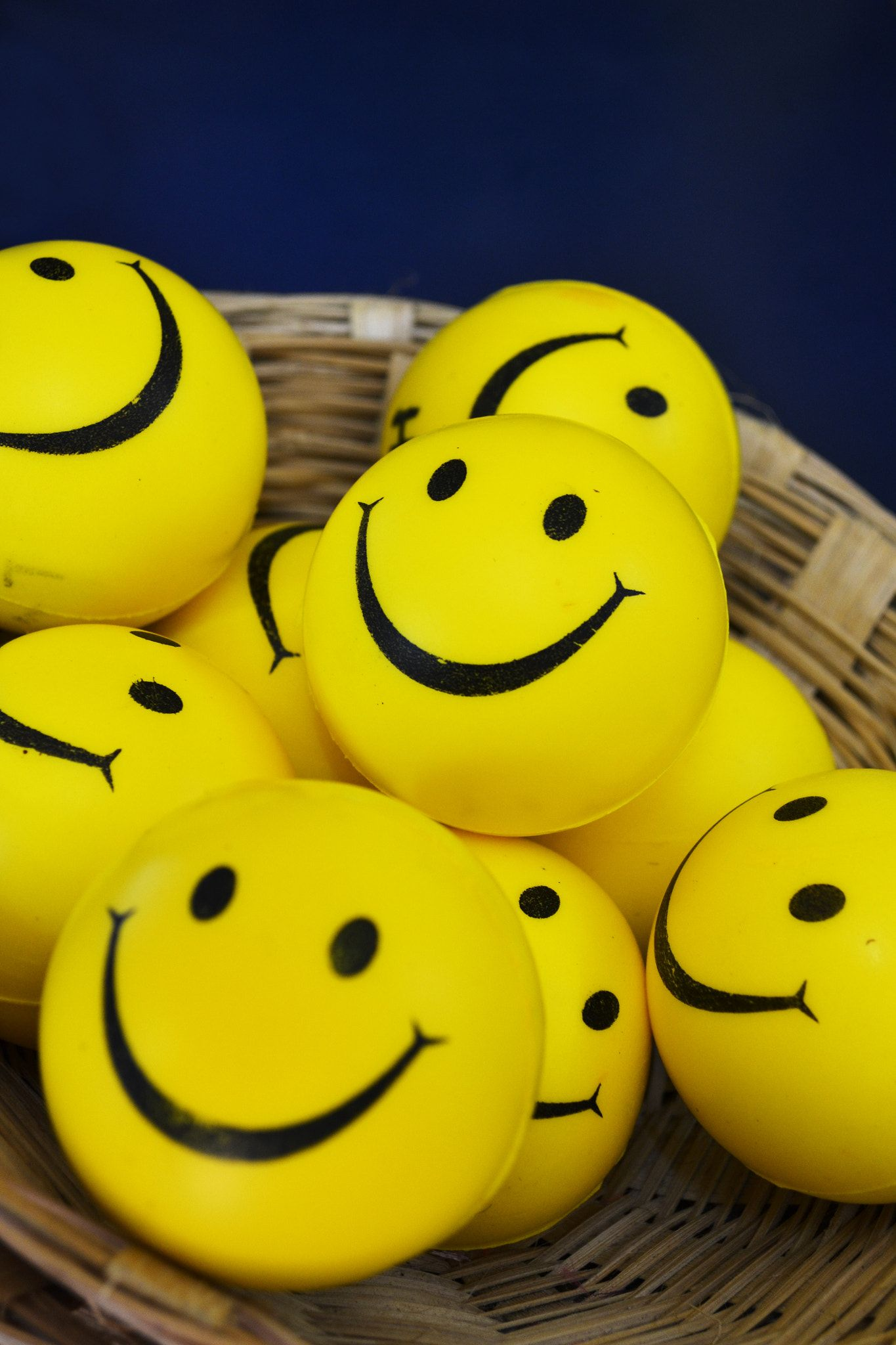 Smiley S Bright Yellow Smileys On A Basket Ready To Make Your Day In 2021 Whatsapp Dp Images Cute Images For Dp Happy Dp