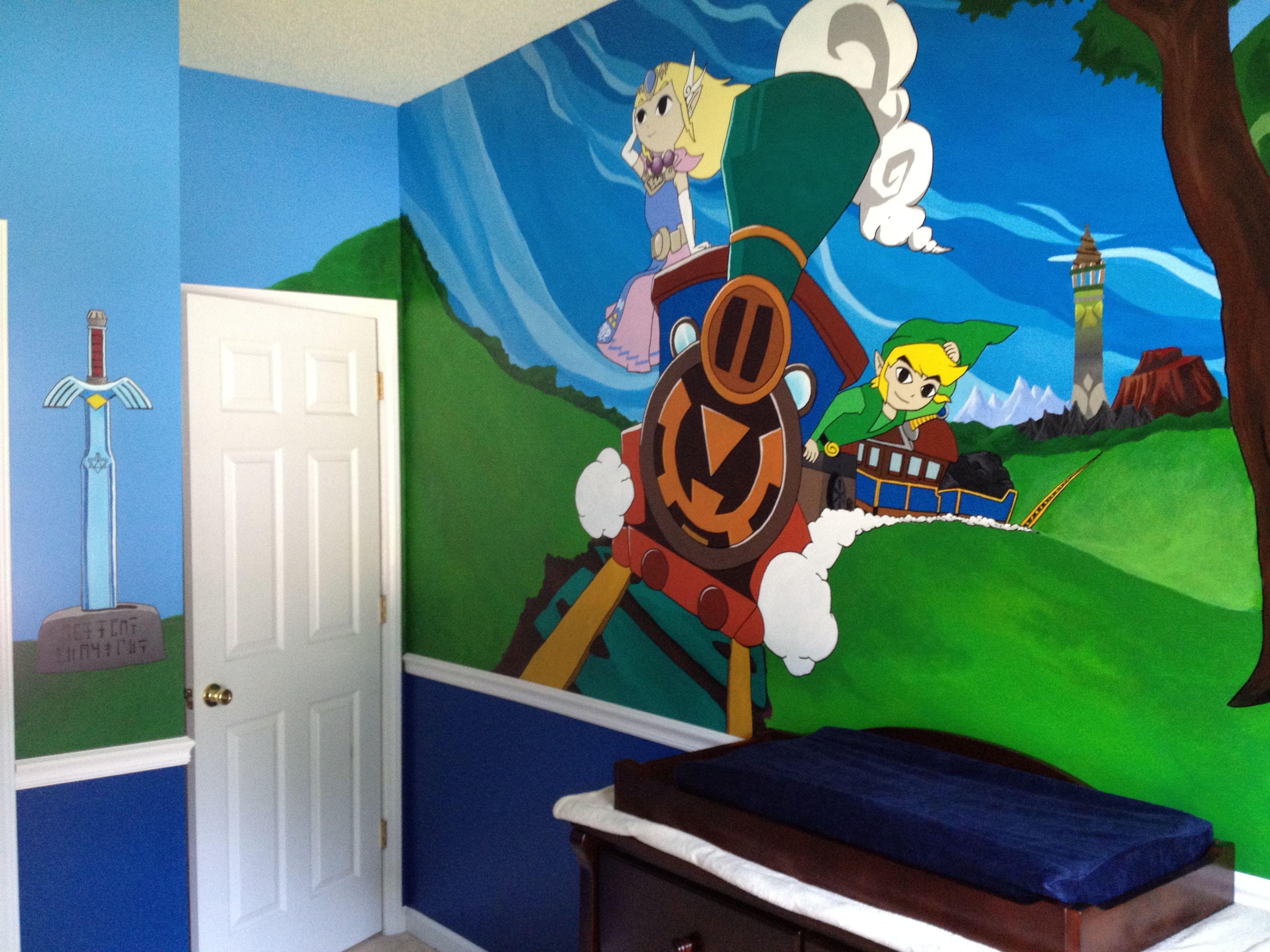 Legend of Zelda bathroom wallpaper Pretty cool I should say